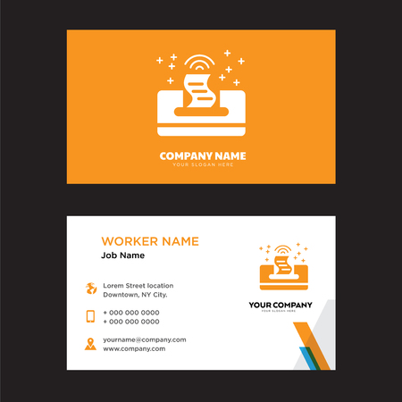 Printer business card design template, Visiting for your company, Modern horizontal identity Card Vector