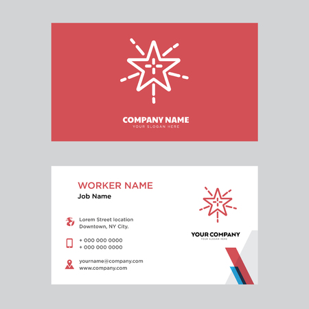 Fireworks business card design template, Visiting for your company, Modern horizontal identity Card Vector Illustration
