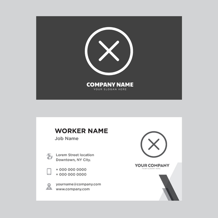 Close business card design template, Visiting for your company, Modern horizontal identity Card Vector 向量圖像