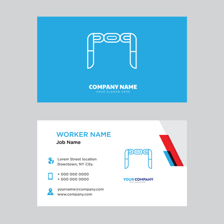 Nunchaku business card design template, Visiting for your company, Modern horizontal identity Card Vector