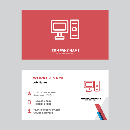 Computer business card design template visiting for your company computer business card design template visiting for your company modern horizontal identity card vector fbccfo Image collections
