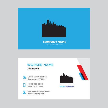 Business card design template, Visiting for your company, Modern horizontal identity Card Vector Illustration