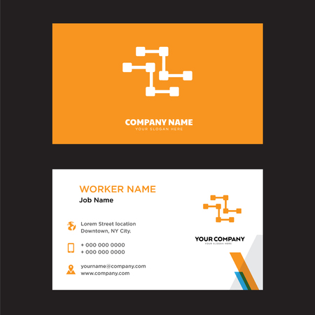 Circuits business card design template, Visiting for your company, Modern horizontal identity Card Vector 矢量图像