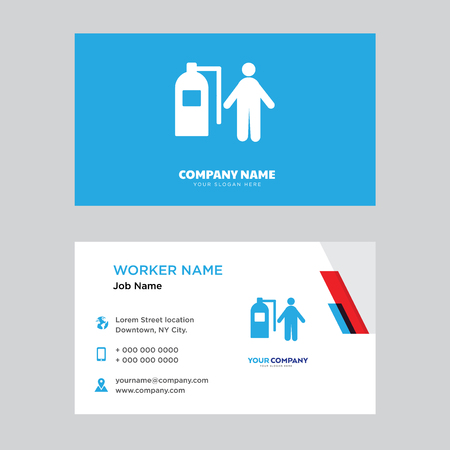 Firefighter business card design template, Modern horizontal identity Card Vector Illustration