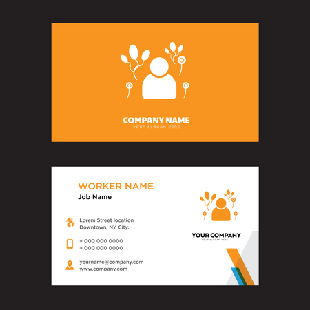 Clown business card design template, Visiting for your company, Modern horizontal identity Card Vector