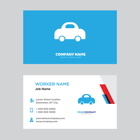 Electric Car business card design template, Visiting for your company. Modern horizontal identity Card.  イラスト・ベクター素材