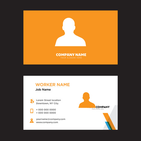 Business card design template, Visiting for your company. Modern horizontal identity Card.