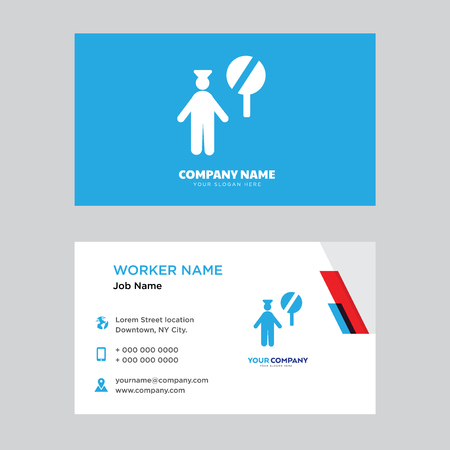 Police Business Card Design Template Visiting For Your Company