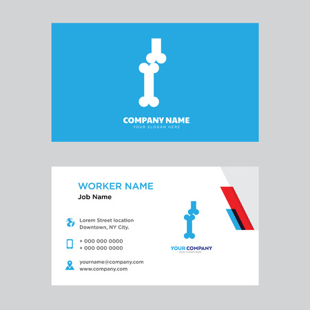 Bones Joint business card design template, Visiting for your company, Modern horizontal identity Card Vector  イラスト・ベクター素材