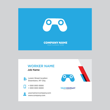 Big Binocoulars business card design template, Visiting for your company, Modern horizontal identity Card Vector Illustration