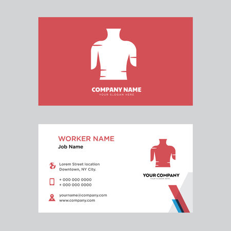 Female Trunk business card design template, Visiting for your company. Modern horizontal identity Card. Stock Illustratie