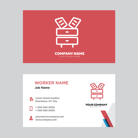 Cabinet business card design template, Visiting for your company. Modern horizontal identity Card.