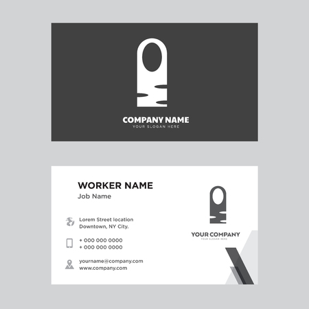 Long Nail business card design template, Visiting for your company, Modern horizontal identity Card Vector