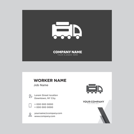 Road sweeper business card design template, Visiting for your company, Modern horizontal identity Card Vector