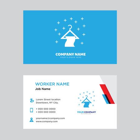 Hanger business card design template, Visiting for your company, Modern horizontal identity Card Vector Ilustração