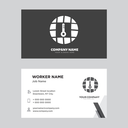 Global Temperature business card design template, Visiting for your company, Modern horizontal identity Card Vector