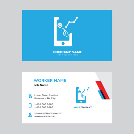 Demand business card design template. Modern horizontal identity Card Vector.