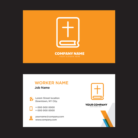 Bible business card design template