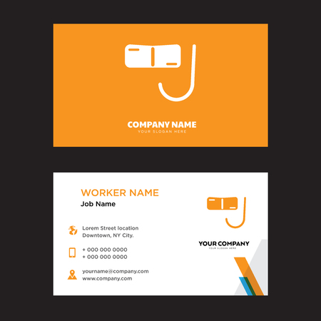 Diving Glasses business card design template, Visiting for your company, Modern horizontal identity Card Vector