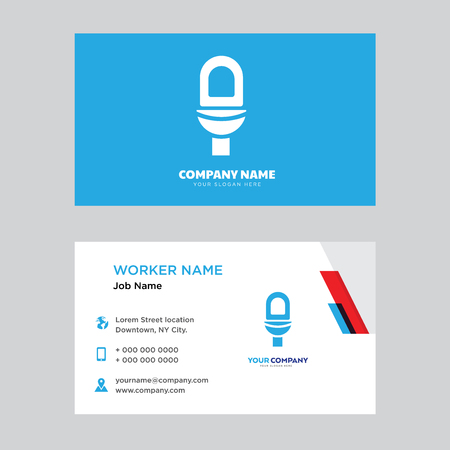 Toilet business card design template. Modern horizontal identity Card Vector.
