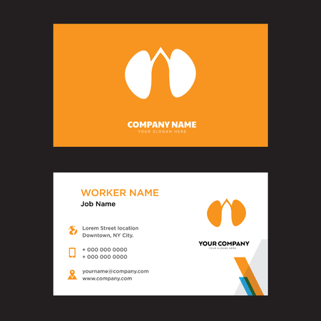 Two Kidneys business card design template, Visiting for your company, Modern horizontal identity Card Vector Vettoriali