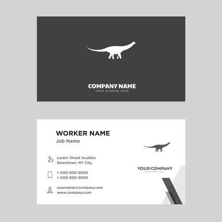 Business card design template. Modern horizontal identity Card Vector. Illustration