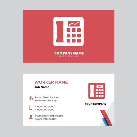 Telephone business card design template, Visiting for your company, Modern horizontal identity Card Vector