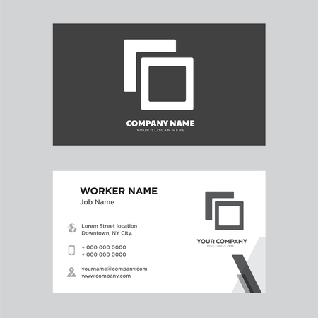 Polaroids business card design template, Visiting for your company, Modern horizontal identity Card Vector