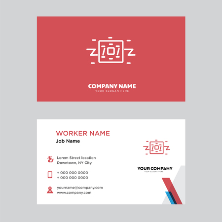 Robot business card design template, Visiting for your company, Modern horizontal identity Card Vector