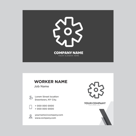 Settings business card design template, Visiting for your company, Modern horizontal identity Card Vector