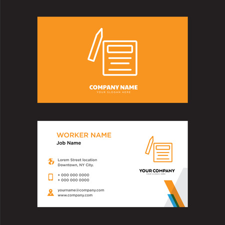 Contract business card design template, Visiting for your company, Modern horizontal identity Card Vector