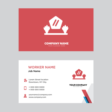 Mirror business card design template, Visiting for your company, Modern horizontal identity Card Vector