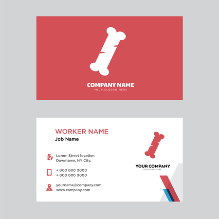 Human Bone business card design template, Visiting for your company, Modern horizontal identity Card Vector