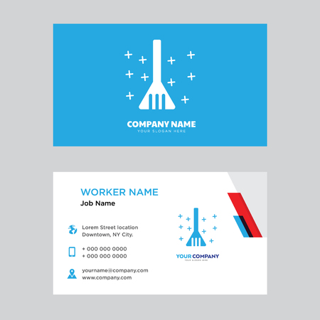 Dustpan business card design template, Visiting for your company, Modern horizontal identity Card Vector