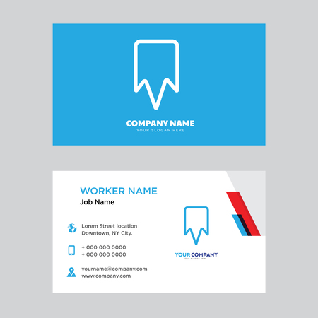 Bookmark business card design template, Visiting for your company, Modern horizontal identity Card Vector