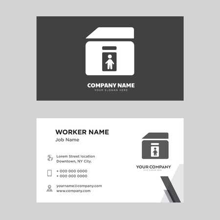 Toilet business card design template, Visiting for your company, Modern horizontal identity Card Vector 일러스트