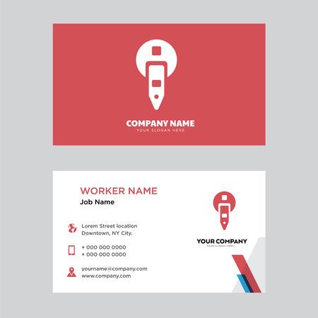 Modello di progettazione del biglietto da visita del parchimetro, visita per la tua azienda, vettore di carta d'identità orizzontale moderno Vettoriali