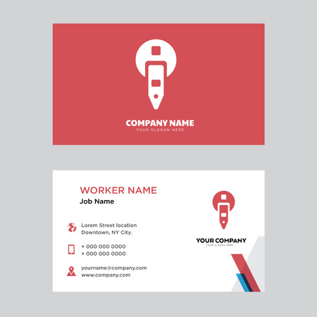 Parking meter business card design template, Visiting for your company, Modern horizontal identity Card Vector