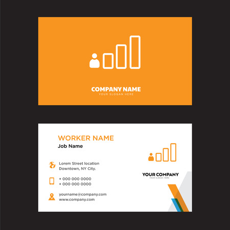 Podium business card design template, Visiting for your company, Modern horizontal identity Card Vector 向量圖像