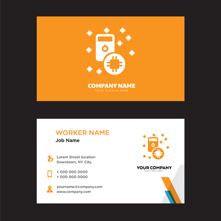 Cpu business card design template, Visiting for your company, Modern horizontal identity Card Vector
