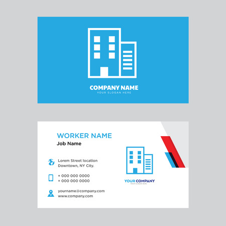 Apartment business card design template, Visiting for your company, Modern horizontal identity Card Vector 向量圖像