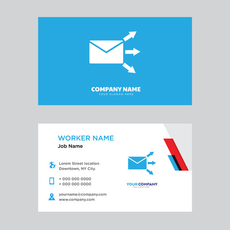 Forward mail business card design template, Visiting for your company, Modern horizontal identity Card Vector