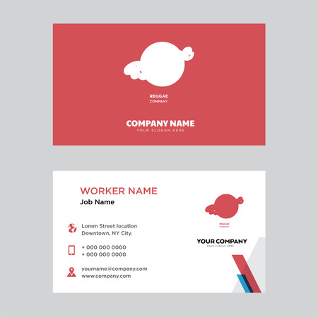 reggae business card design template, Visiting for your company, Modern horizontal identity Card Vector Illustration