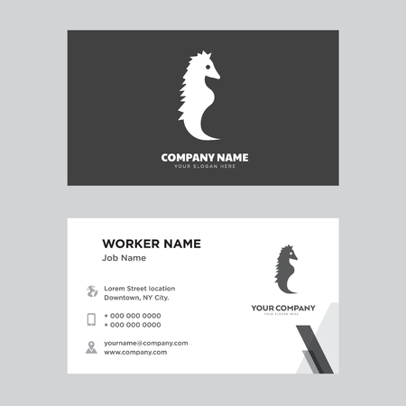 Sea Horse business card design template, Visiting for your company, Modern horizontal identity Card Vector