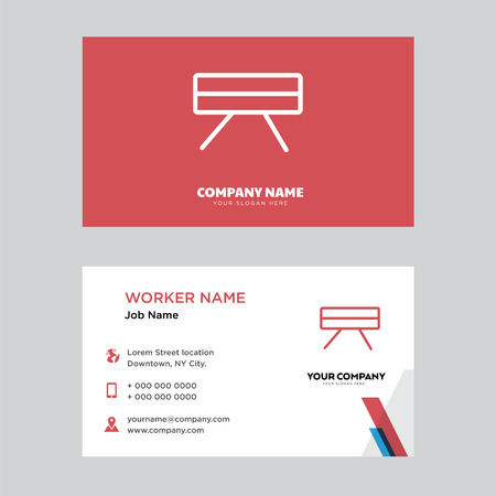 Table business card design template, Visiting for your company, Modern horizontal identity Card Vector