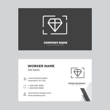 Value business card design template, Visiting for your company, Modern horizontal identity Card Vector