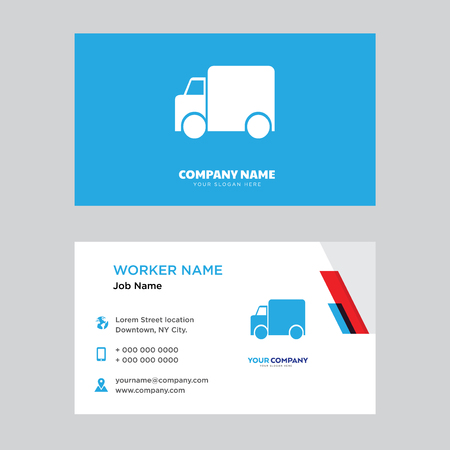 Garbage truck business card design template, Visiting for your company, Modern horizontal identity Card Vector Illustration