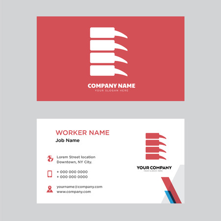 Spine Bone business card design template, Visiting for your company, Modern horizontal identity Card Vector
