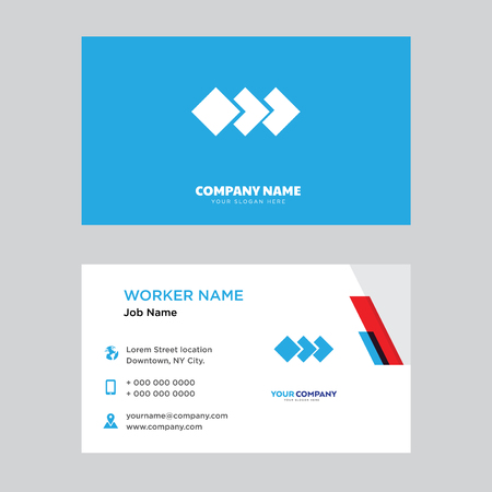 Layers business card design template, Visiting for your company, Modern horizontal identity Card Vector