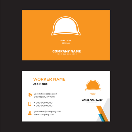 fire dept business card design template, Visiting for your company, Modern horizontal identity Card Vector